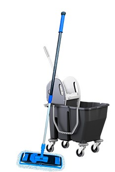 Vogn til gulvvask med to kamre